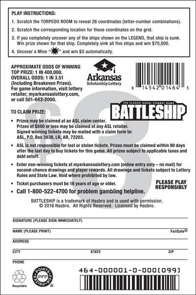 BATTLESHIP™ - Game No. 464 - Back