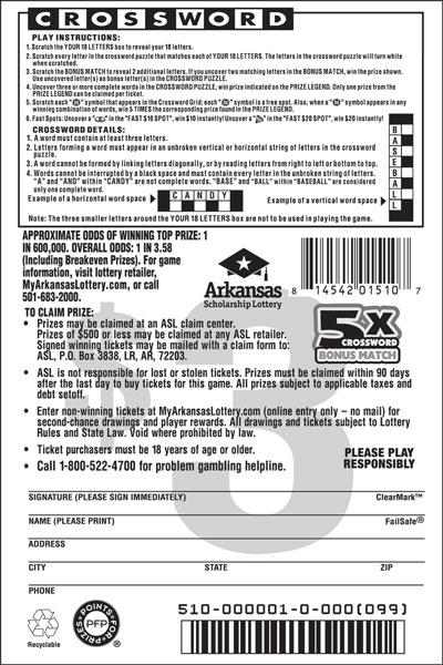 5X Crossword Bonus Match - Game No. 510