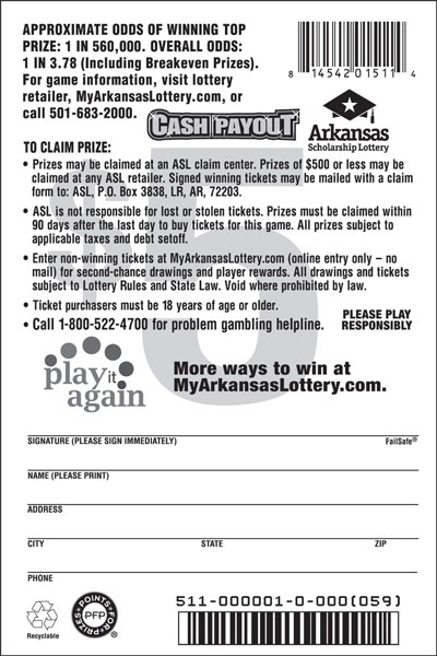 Cash Payout - Game No. 511