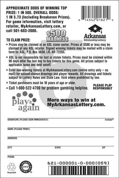 $500 Madness - Game No. 621