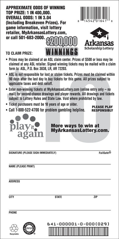 $200,000 Winnings - Game No. 641