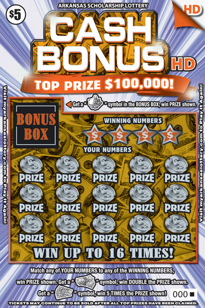 Cash Bonus HD - Game No. 456 - Front