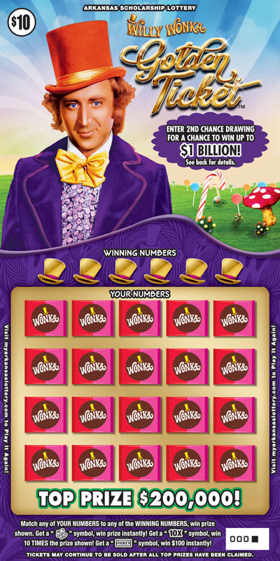Willy Wonka Golden Ticket™ - Game No. 457 - Front
