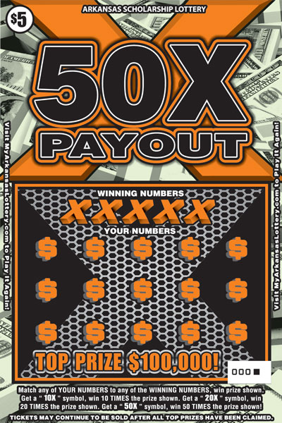 50X Payout - Game No. 492 - Front