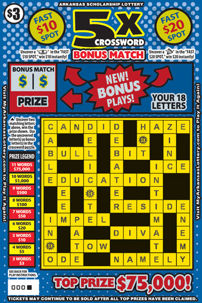 5X Crossword Bonus Match - Game No. 510