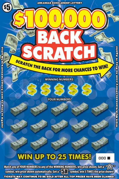 $100,000 Back Scratch - Game No. 587