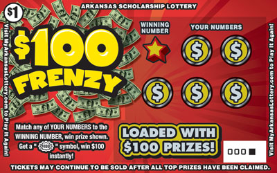 $100 Frenzy - Game No. 594
