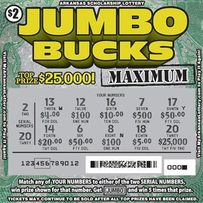Jumbo Bucks Maximum - Game No. 542 - Uncovered