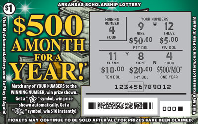 $500 a Month for a Year! - Game No. 557