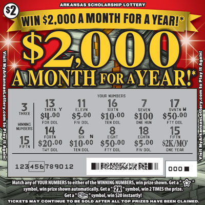 $2,000 a Month for a Year! - Game No. 558