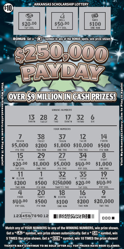 $250,000 Payday - Game No. 592