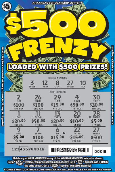 $500 Frenzy - Game No. 597