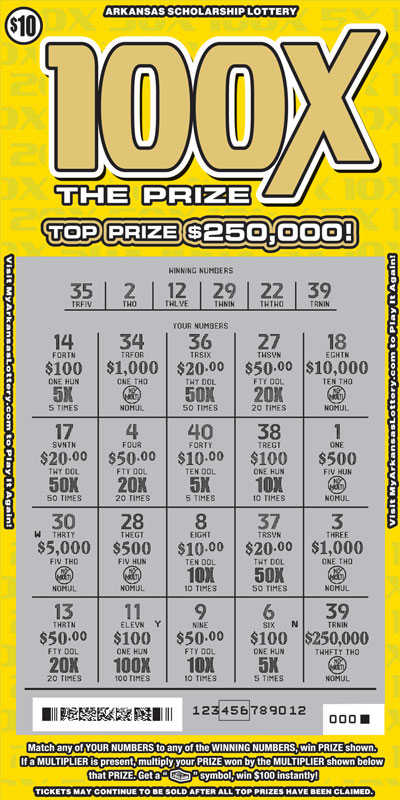100X the Prize - Game No. 607