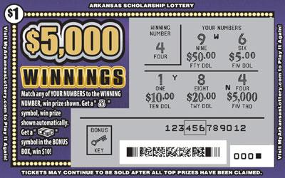 $5,000 Winnings - Game No. 638
